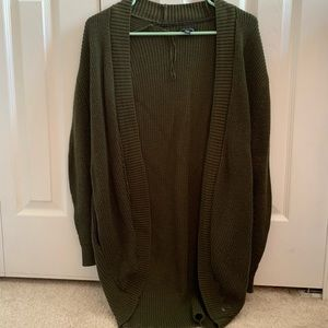 American Eagle Olive Green Cardigan